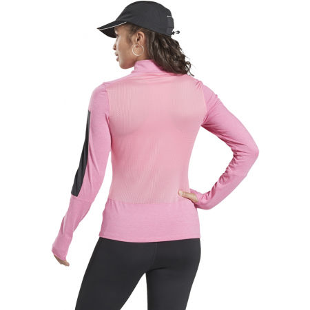 Women's sports sweatshirt - Reebok RE 1/4 ZIP - 2