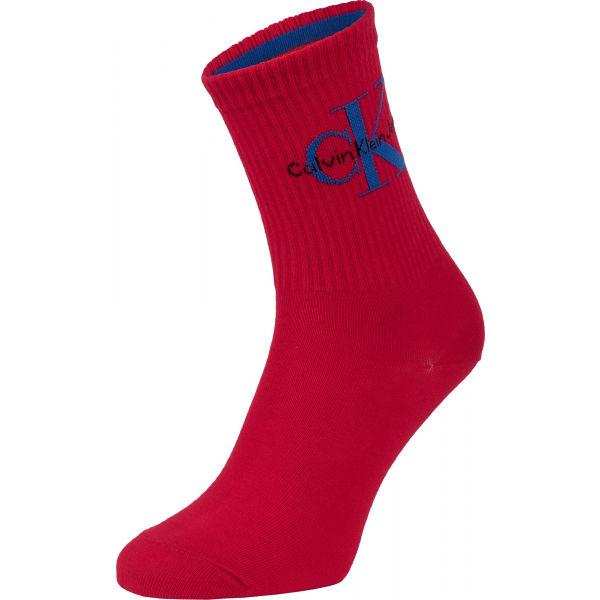 Calvin Klein JEANS LOGO červená UNI - Dámské ponožky