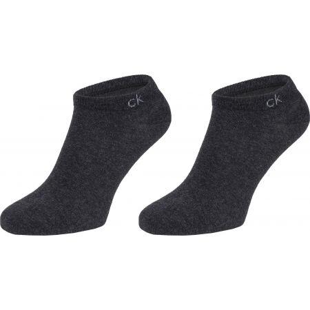 Dámske ponožky - Calvin Klein 2PK FLAT KNIT - 1