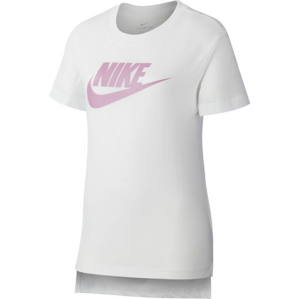 Nike NSW TEE DPTL BASIC FUTURA G biela M - Dievčenské tričko