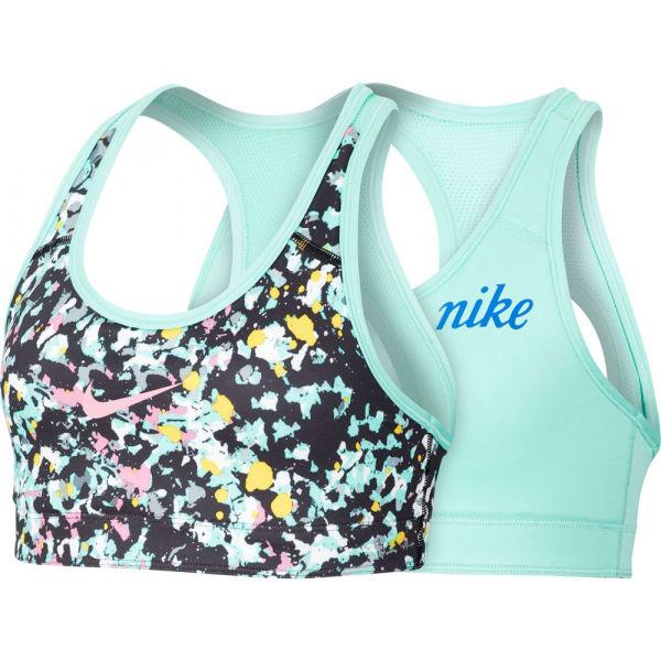 Nike CL REVERSIBLE BRA JDIY G zelená S - Dievčenská obojstranná podprsenka