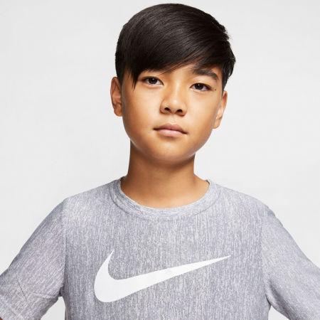 Тениска за тренировка за момчета - Nike CORE SS PERF TOP HTHR B - 3