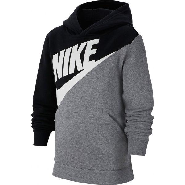 Nike NSW CORE AMPLIFY PO B šedá XL - Chlapecká mikina