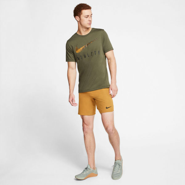 Nike DRY TEE DB SWSH ATHLE SNL M tmavě zelená XL - Pánské tréninkové tričko