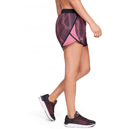 Women's shorts - Under Armour FLY BY 2.0 PRINTED SHORT - 8