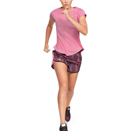 Women's shorts - Under Armour FLY BY 2.0 PRINTED SHORT - 6