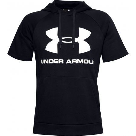 Мъжки суитшърт - Under Armour RIVAL FLEECE LOGO SS - 1