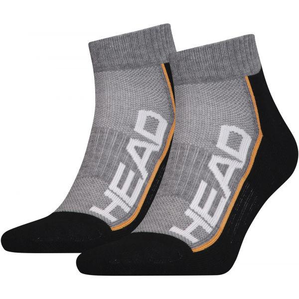 Head PERFORMANCE QUARTER 2PACK černá 35 - 38 - Unisexové ponožky