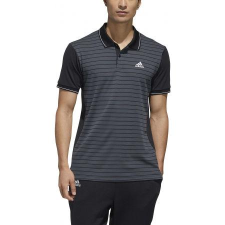 Men's polo shirt - adidas HTRDY CB M PL 1 - 3