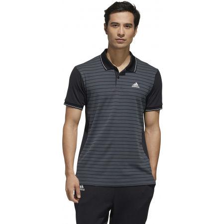 Men's polo shirt - adidas HTRDY CB M PL 1 - 4