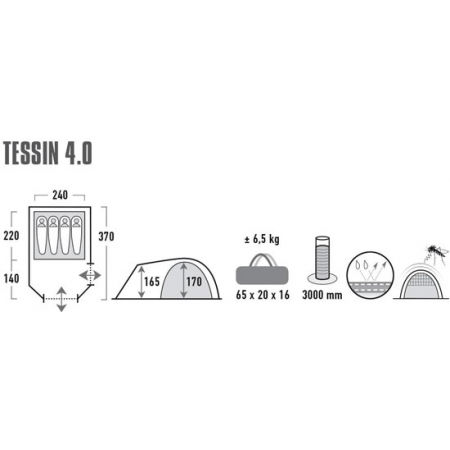Семейна палатка - High Peak TESSIN 4 - 9