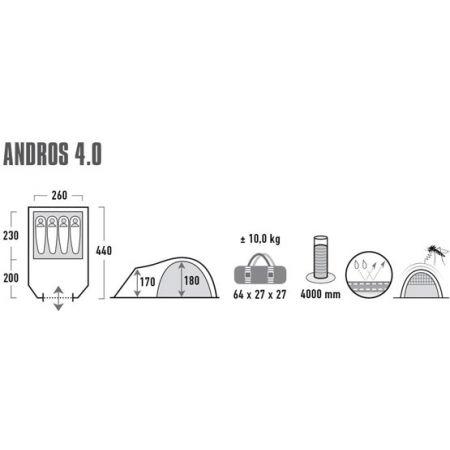 Rodinný stan - High Peak ANDROS 4 - 10