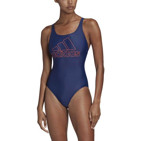 adidas ATHLY V LOGO SWIMSUIT modrá 38 - Dámské plavky