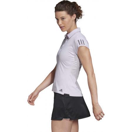 Women's tennis T-shirt - adidas CLUB 3 STRIPES POLO - 5