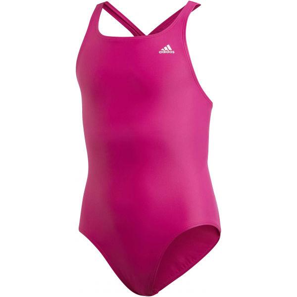 adidas ATHLY V SOLID SUIT TAKEDOWN růžová 164 - Dívčí plavky