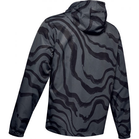 Pánska bunda - Under Armour SPORTSTYLE WIND PRINTED HOODIE JACKET - 2