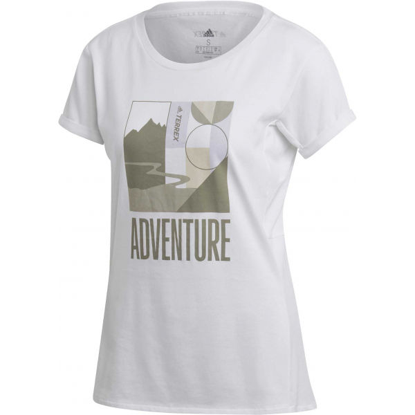 adidas TX ADVENTURE TERREX bílá M - Dámské outdoorové tričko