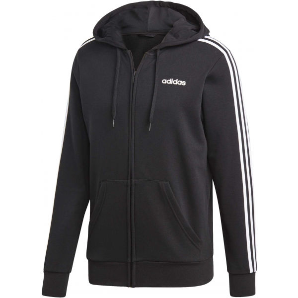 adidas E 3S FZ FT čierna L - Pánska mikina s kapucňou