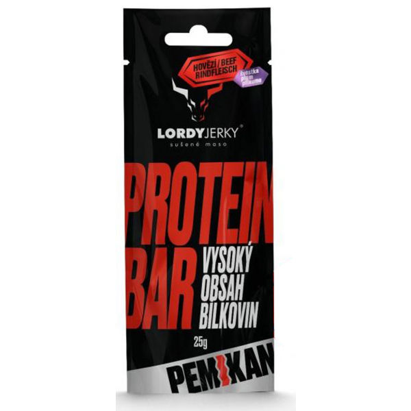 LORDYJERKY HOVÄDZÍ PROTEIN BAR SLIVKA  NS - Proteínová tyčinka