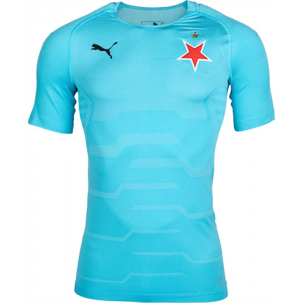 Puma FINAL EVOKNIT GK SLAVIA modrá S - Pánské brankářské triko