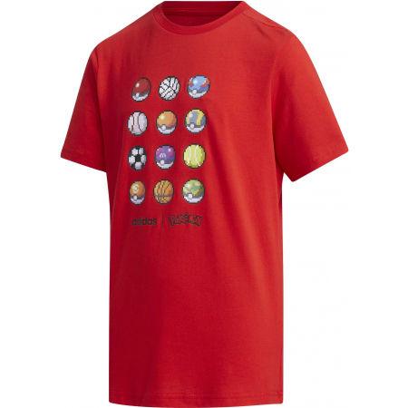 Chlapčenské tričko - adidas YB PKM TEE - 1