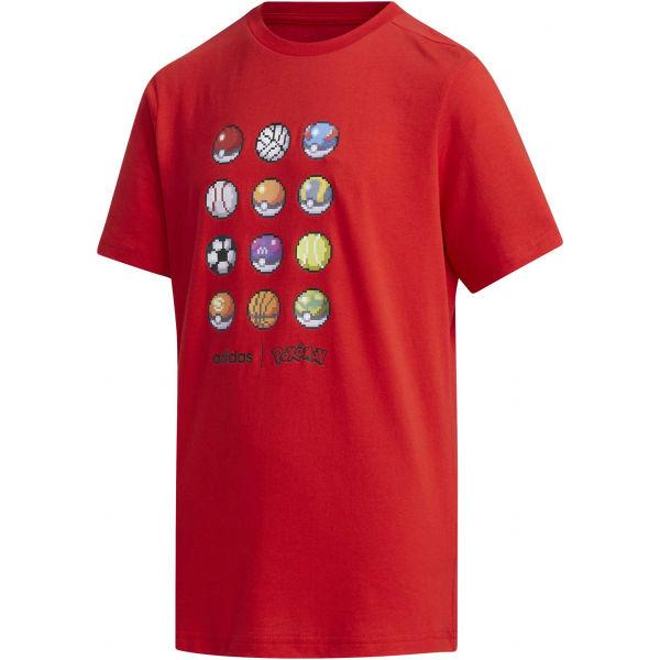 adidas YB PKM TEE červená 152 - Chlapecké triko