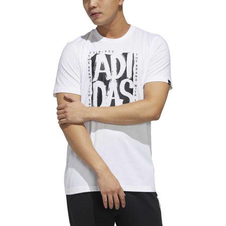 Pánske tričko - adidas STMP TEE - 3