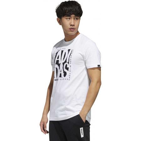 Pánske tričko - adidas STMP TEE - 5