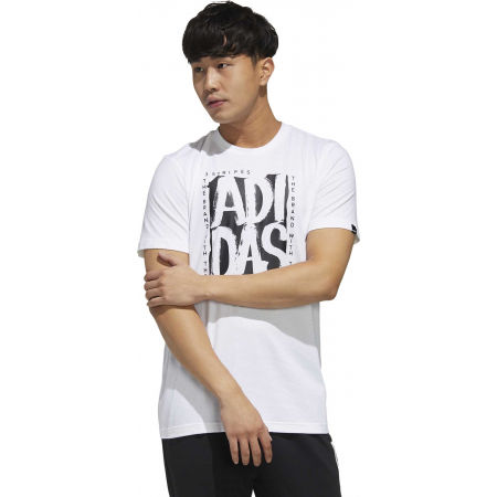 Pánske tričko - adidas STMP TEE - 4