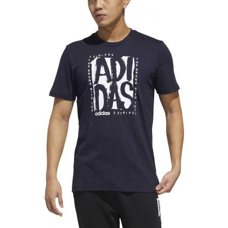 Pánske tričko - adidas STMP T - 3