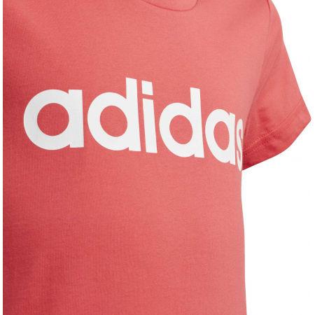 Dievčenské tričko - adidas YG E LIN TEE - 3
