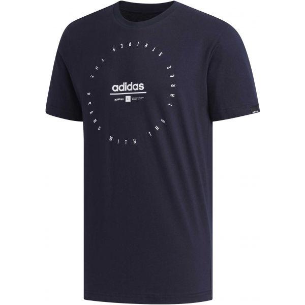 adidas ADI CLK T tmavě modrá 2XL - Pánské tričko
