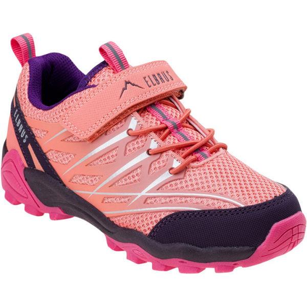 Elbrus TERRIN JR růžová 29 - Dětská vycházková obuv