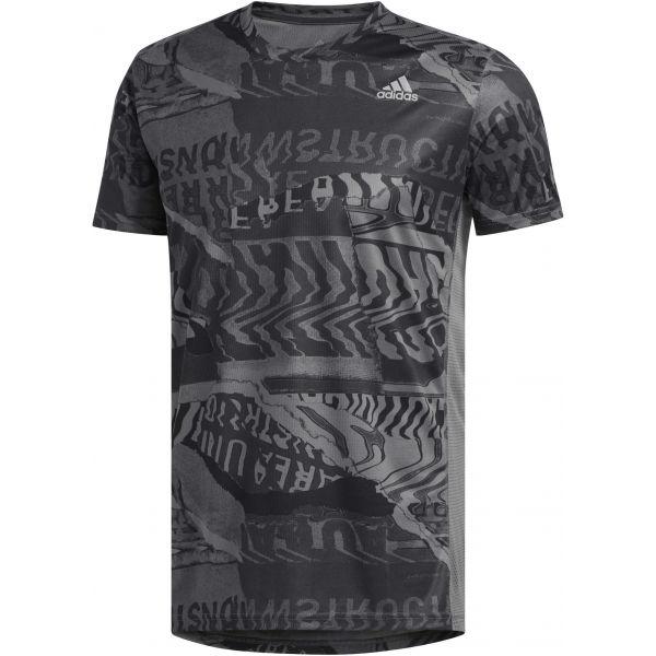 adidas OWN THE RUN TEE černá XL - Pánské sportovní tričko