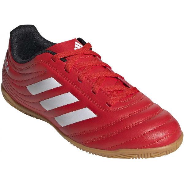 adidas COPA 20.4 IN J červená 35 - Dětské sálovky