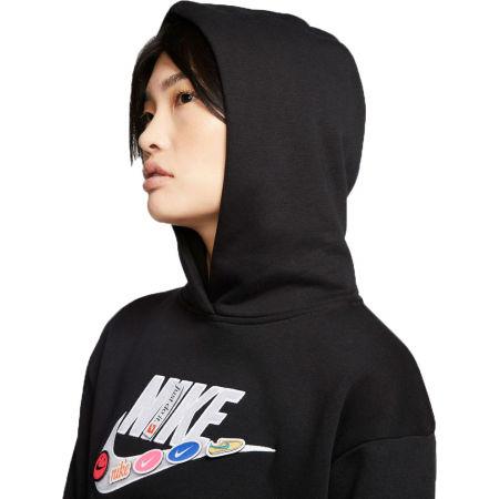 Damen Sweatshirt - Nike NSW ICN CLSH FLC HOODIE BB W - 4