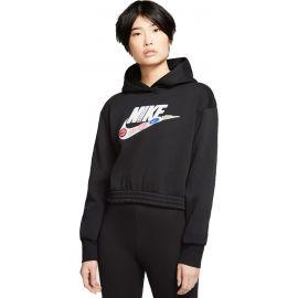 Nike NSW ICN CLSH FLC HOODIE BB W - Dámská mikina