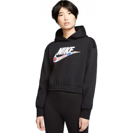Damen Sweatshirt - Nike NSW ICN CLSH FLC HOODIE BB W - 1