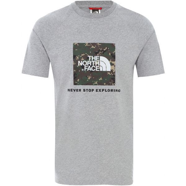 The North Face RAG RED BOX TE šedá M - Raglánové pánské triko