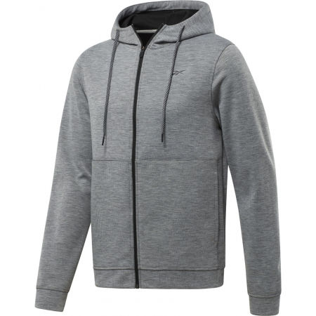 Bluza męska - Reebok WORKOUT READY DOUBLE KNIT FZ HOODIE - 1