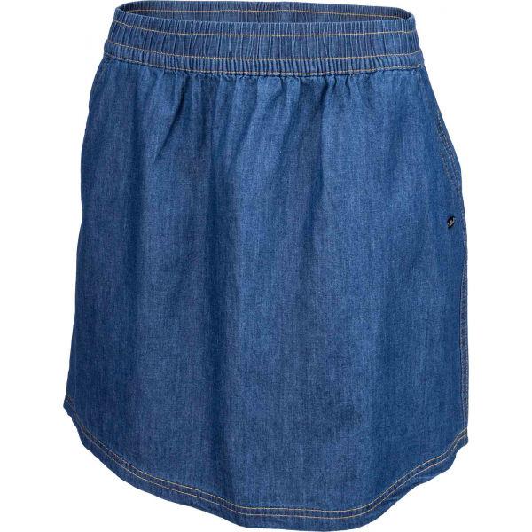 Willard LELA modrá 36 - Dámská plátěná sukně džínového vzhledu