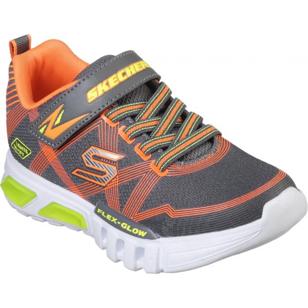 Skechers S-LIGHTS: FLEX-GLOW tmavě šedá 31 - Chlapecké blikající tenisky