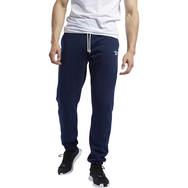 Reebok TE FT CUFFED PANT modrá XL - Pánske tepláky