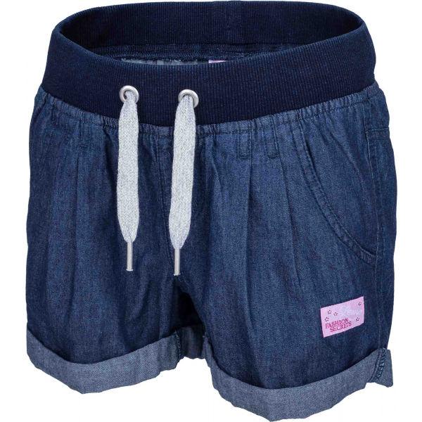 Lewro LAILA modrá 116-122 - Dívčí šortky džínového vzhledu