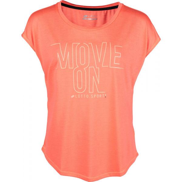 Lotto DINAMICO W II TEE PRT VI růžová M - Dámské tričko