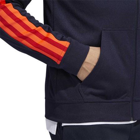 Pánska mikina s kapucňou - adidas 3S PIQUE FZ - 9