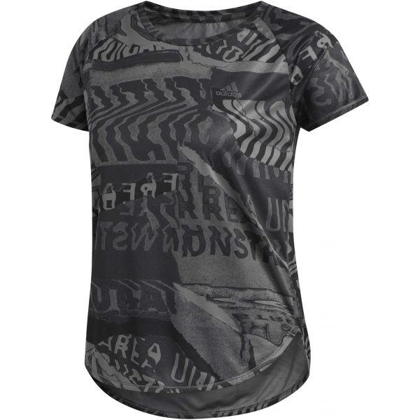 adidas OWN THE RUN TEE šedá XS - Dámské tričko