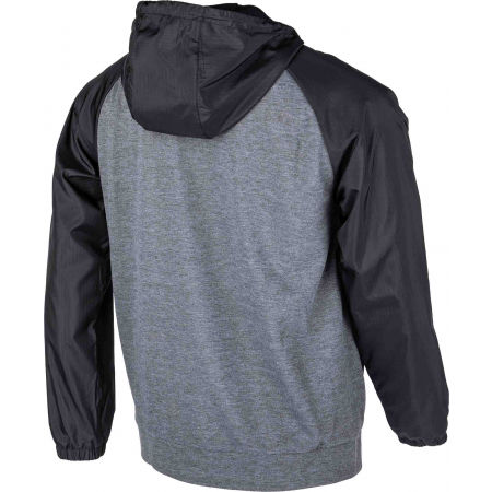 Bluza z kapturem męska - Lotto DINAMICO II SWEAT FZ HD MEL PL - 3