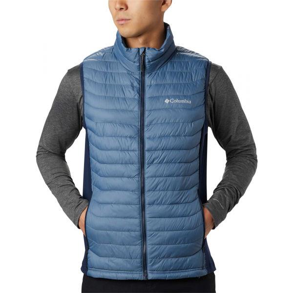 Columbia POWDER PASS VEST modrá S - Pánská outdoorová vesta