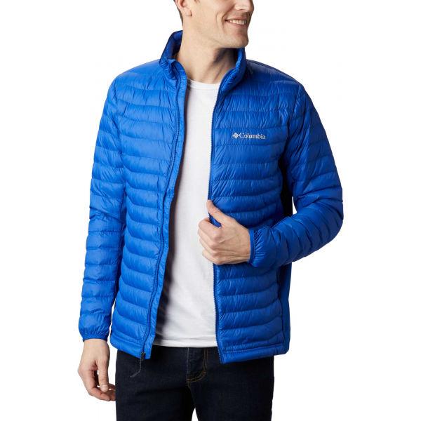 Columbia POWDER PASS JACKET modrá S - Pánská outdoorová bunda
